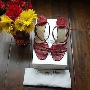 Christian Dior Whipsnake Red Sandals (36)